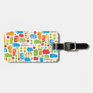 Bright Guinea Pig Patch Luggage Tag