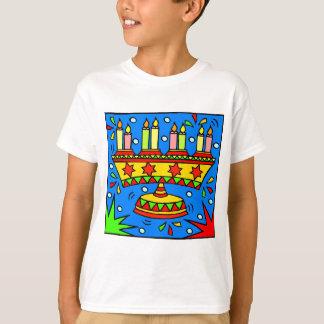 Bright Hanukkah Menorah T-Shirt