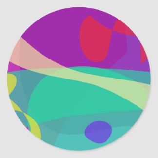 Bright Happy Abstract Purple and Green Sticker
