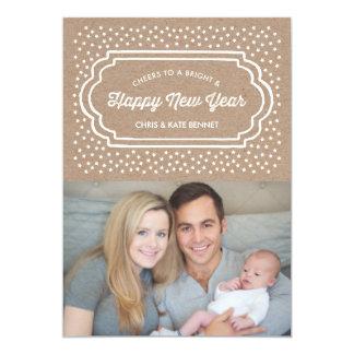 Bright & Happy New Years Photo Card 13 Cm X 18 Cm Invitation Card