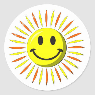Bright Happy Smile - Smiley Face Round Sticker