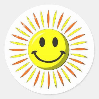 Bright Happy Smile - Smiley Face Round Sticker