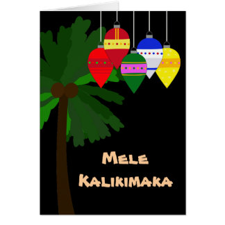 Bright Hawaiian Christmas Greeting Card