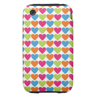 Bright Hearts iPhone 3 Tough Covers