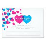 Bright Hearts Response Card Invites
