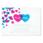 Bright Hearts Wedding Invitation