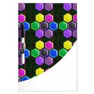 BRIGHT Hexagon Sparkle BUTTONS GoodLUCK lowprice Dry Erase Whiteboard