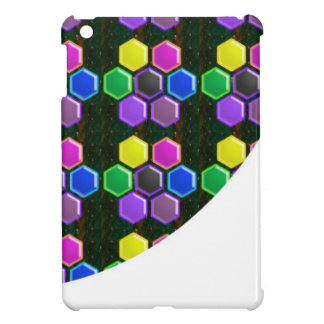 BRIGHT Hexagon Sparkle BUTTONS GoodLUCK lowprice Cover For The iPad Mini
