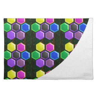 BRIGHT Hexagon Sparkle BUTTONS GoodLUCK lowprice Placemats