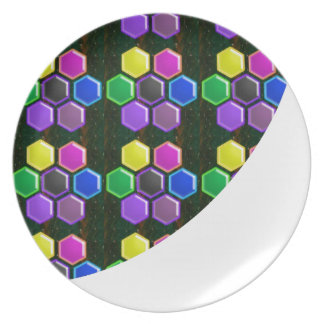 BRIGHT Hexagon Sparkle BUTTONS GoodLUCK lowprice Plate