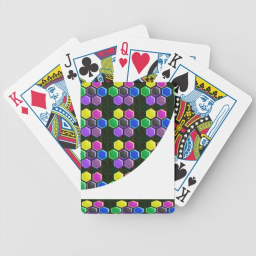 BRIGHT Hexagon Sparkle BUTTONS GoodLUCK lowprice Bicycle Playing Cards