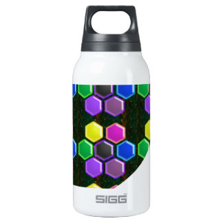 BRIGHT Hexagon Sparkle BUTTONS GoodLUCK lowprice 10 Oz Insulated SIGG Thermos Water Bottle