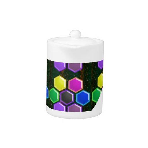 BRIGHT Hexagon Sparkle BUTTONS GoodLUCK lowprice