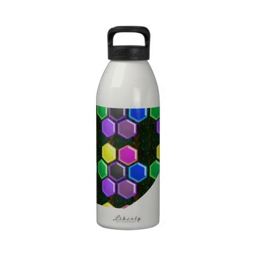 BRIGHT Hexagon Sparkle BUTTONS GoodLUCK lowprice Water Bottle