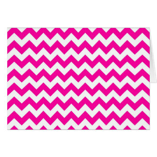 Bright Hot Pink Chevrons Card