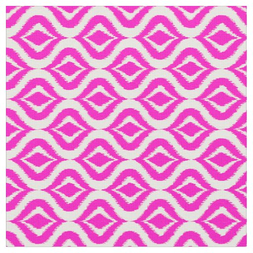 Bright Hot Pink Retro Chic Ikat Drops Pattern