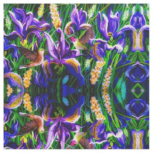 Bright Hummingbird Dreams Fabric