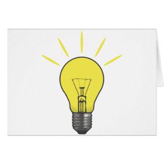 Bright Idea Light Bulb Greeting Cards