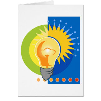 Bright Idea Light Bulb Electric Greeting Cards