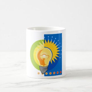 Bright Idea Light Bulb Electric Coffee Mugs