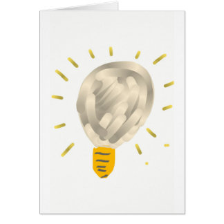 Bright idea light bulb greeting card