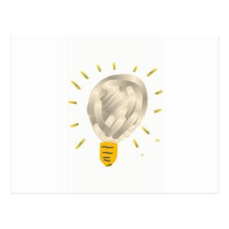 Bright idea light bulb postcard
