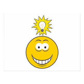 Bright Idea Smiley Face Postcard