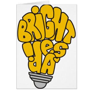 Bright ideas greeting card