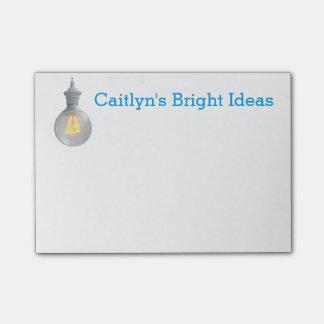 Bright Ideas Lightbulb | Custom Name Template Post-it® Notes