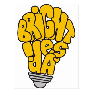 Bright ideas postcard