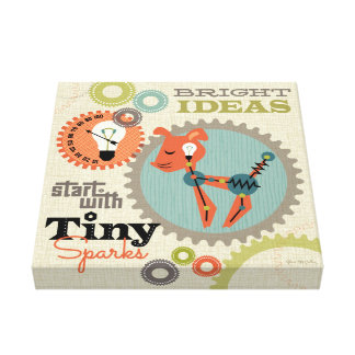 Bright ideas start with tiny sparks gallery wrap canvas