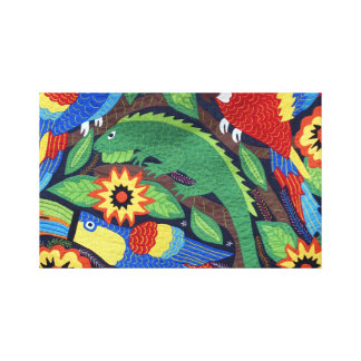 Bright Iguanas Gallery Wrapped Canvas