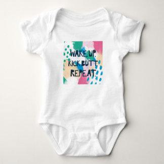 Bright Inspiration IV | Wake Up Kick Butt Repeat Baby Bodysuit