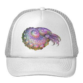 Bright Iridescent Fractal Nautilus Composite Art Mesh Hats