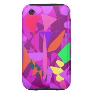 Bright Irregular Forms 4 Tough iPhone 3 Covers