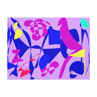 Bright Irregular Forms Stretched Canvas Prints