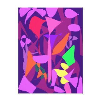Bright Irregular Forms Stretched Canvas Print