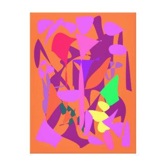 Bright Irregular Forms Canvas Prints