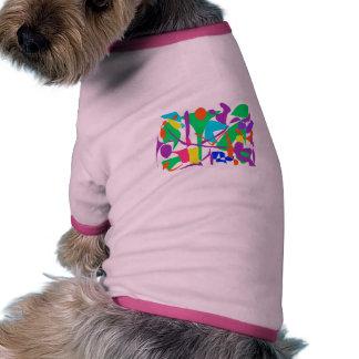 Bright Irregular Forms Doggie Tee Shirt