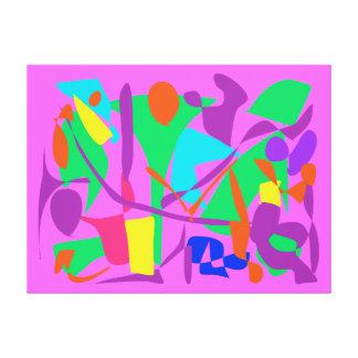 Bright Irregular Forms Gallery Wrap Canvas