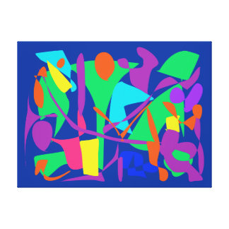 Bright Irregular Forms Gallery Wrapped Canvas