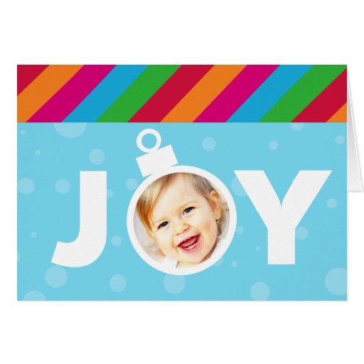 Bright JOY Photo Ornament Folded Christmas Card