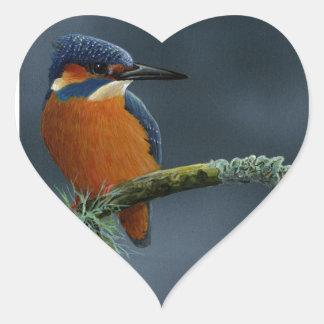 Bright Kingfisher gifts Heart Sticker