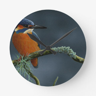 Bright Kingfisher gifts Round Clock