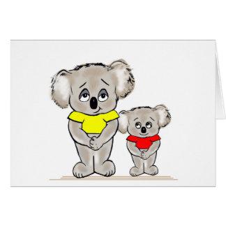Bright Koalas Greeting Card