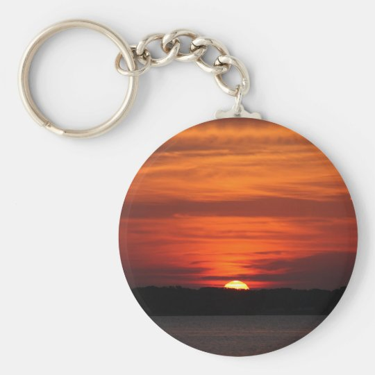 Bright Lake Sunrise keychain