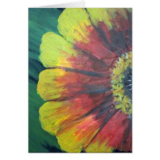 Bright large flower design greeting card