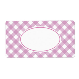Bright Lavender Gingham Labels