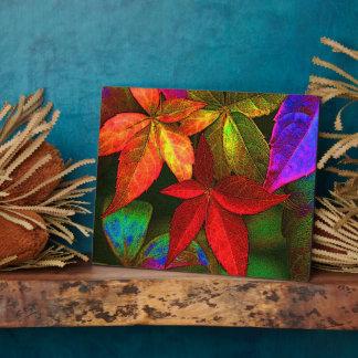 Bright leaves plaque