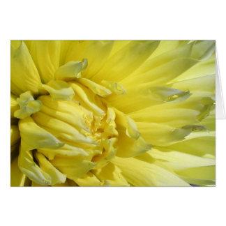 Bright, Lemon Yellow Dahlia Card